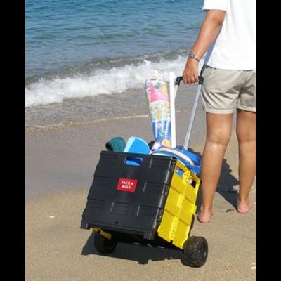 Large Wheel Folding Box Cart, Trolley Cart Dual Wheels