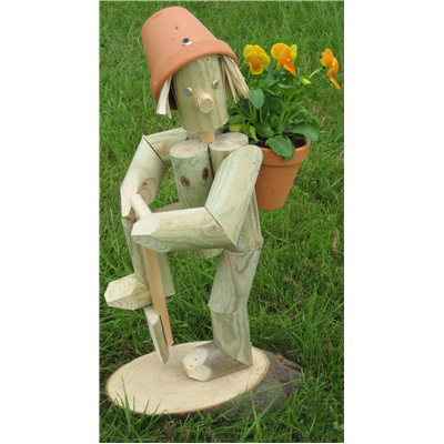 Wooden garden flowerpot men this flowerpot man is digging for Gardening gifts for men
